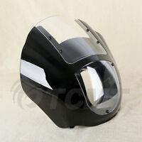 Black Quarter Fairing Viisor For Harley Davidson Super Glide Dyna Sportster Xl