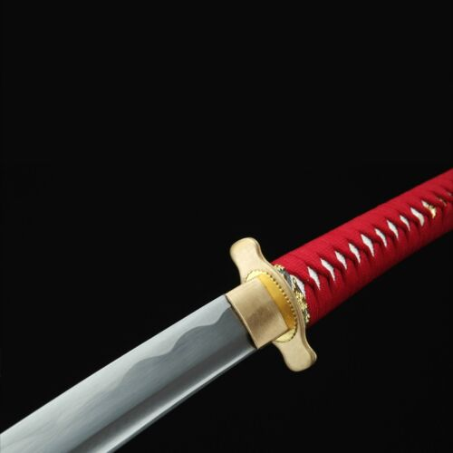 Handmade Gold Tsuba Real Katana Japanese Samurai Swords