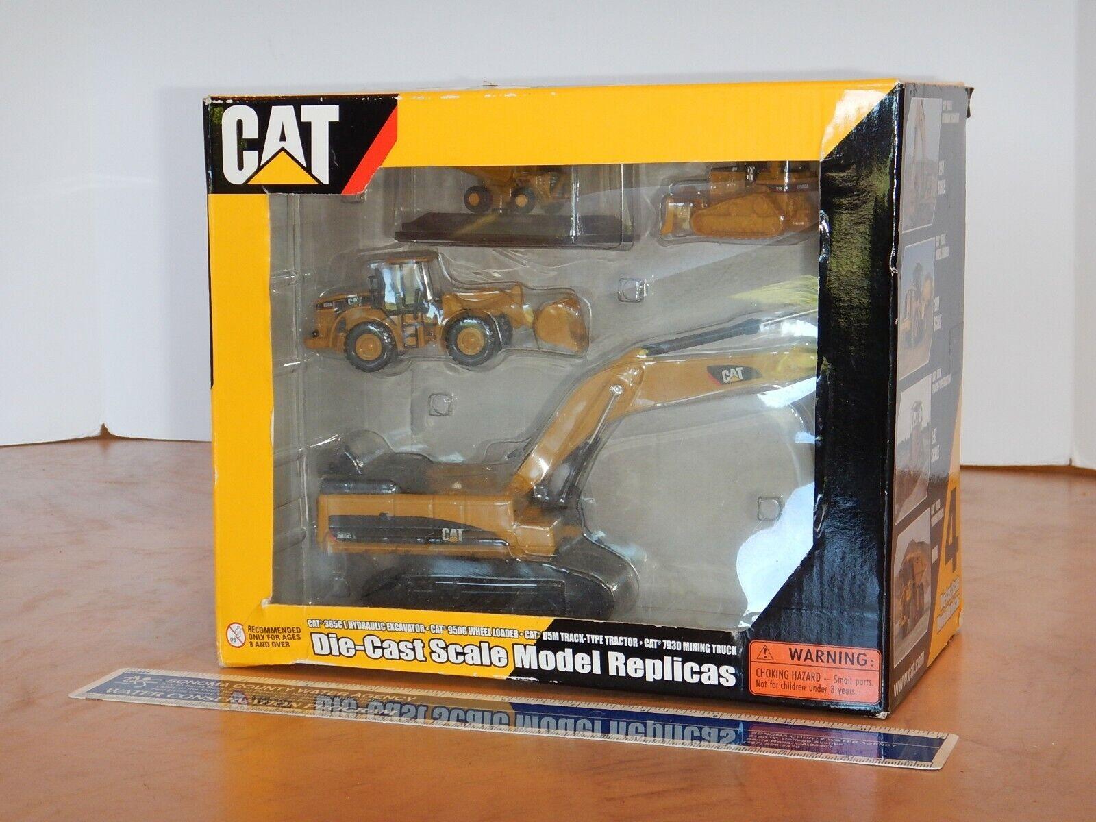 2009 NORSCOT 4 DIE-CAST SCALE MODEL REPLICAS CONSTRUCTION TOY SET, NOS