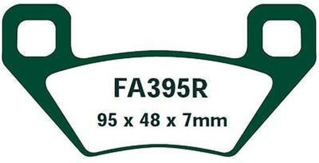 EBC Bremsbeläge FA395R passt in Arctic Cat TRV 700 HI EFI Cruiser 2-up 09-10