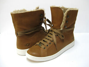 6fd270cd397 Details about UGG STARLYN WOMEN SNEAKER BOOTS LEATHER CHESTNUT US 11 /UK  9.5 /EU 42