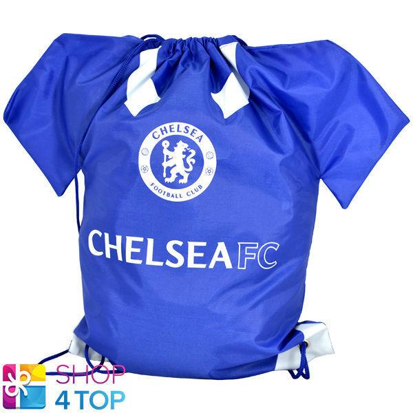 a2aee965ba School Football Sports Bootbag Drawstring Shirt Gym Shoe Pump Boot Kit Swim  Bag Chelsea FC or CFC Blues
