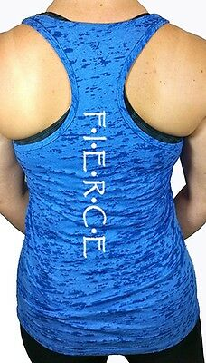 Womens Workout Tank Top, Workout Clothes, Fierce Burnout Racerback Tank Top