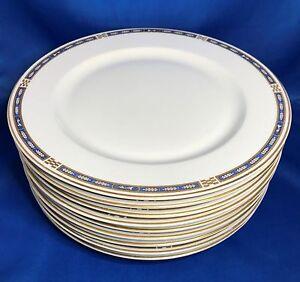 Syracuse China Opco Mistic Blue Dinner Plate Set Of 9 Ebay
