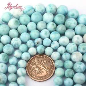 659092259 6-12mm Round Natural Grade AAA Blue Larimar Gem Stone Beads Jewelry ...