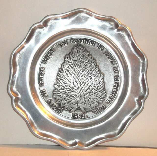 Pewtarex Pewter Plate Christmas Tree 1982 Limited Edition 23 Ebay