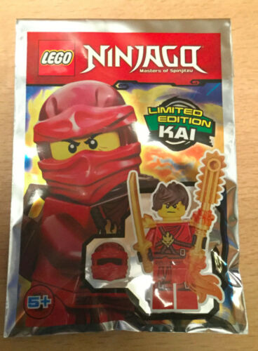 SACHET POLYBAG LEGO MINIFIGURE FIGURINE NINJA NINJAGO NEUF KAI LE NINJA ROUGE