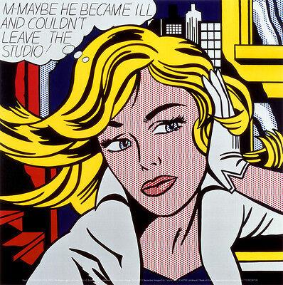 M-Maybe, c.1965 Art Poster Print by Roy Lichtenstein, 12x12