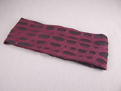 "Burgundy Black cut out 2.5"" wide stretch elastic headband kids girls childrens"