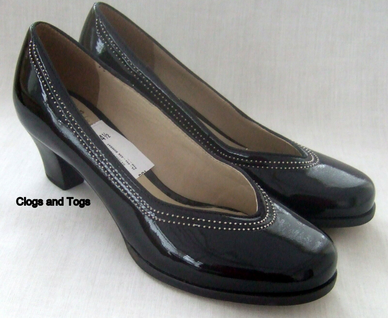 NEW CLARKS ASK BOMBAY damen schwarz PATENT LEATHER LEATHER LEATHER schuhe 09d381