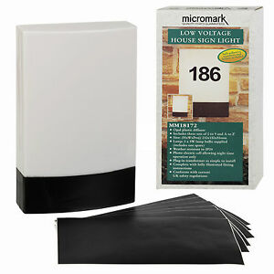 MICROMARK-LOW-VOLTAGE-MAINS-OUTDOOR-HOUSE-DOOR-NUMBER-OR-NAME-SIGN-LIGHT-PLAQUE