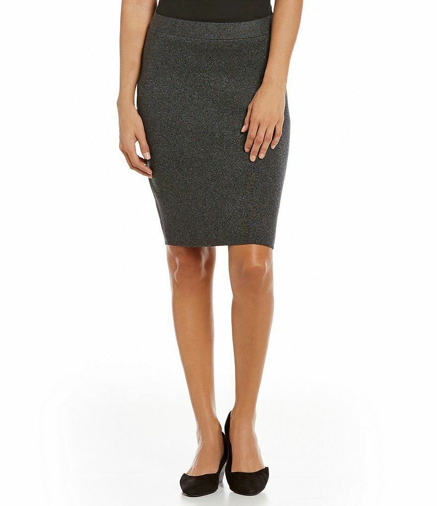 NWT Eileen Fisher  Charcoal Tencel Merino  Pencil Skirt- Choose  Large 1X 2X