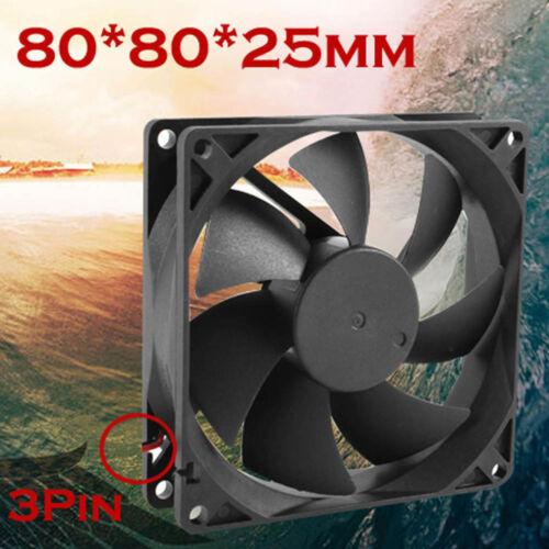 Quiet 8cm//80mm//80x80x25mm 12V laptop  Computer//PC//CPU Silent Cooling Case Fan