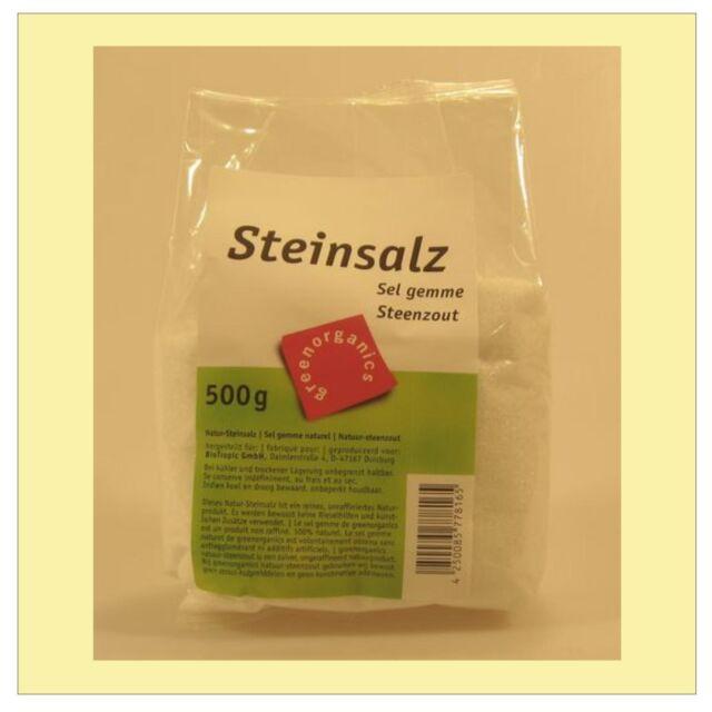 (2,58/kg) Green Bio Steinsalz 500 g