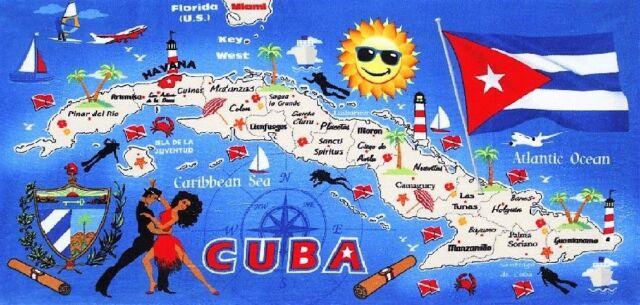 Cuba Velour Brazilian Beach Towel 31 x 51 inch