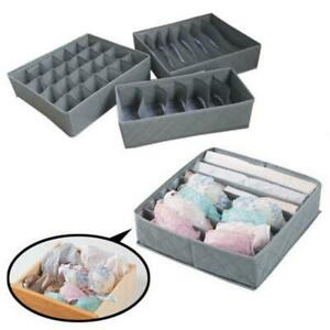 3X-Closet-Organizer-Box-fuer-Unterwaesche-BH-Socken-Krawatten-Schals-Speicher-Teil