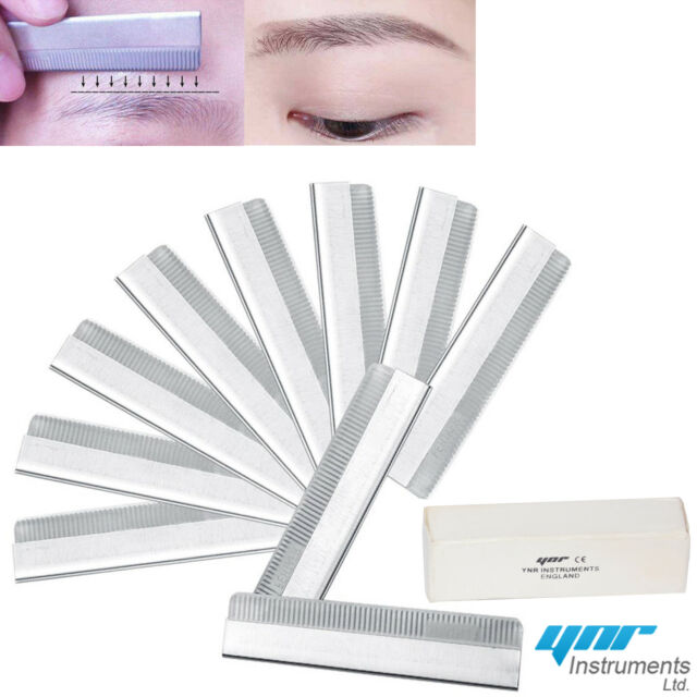 10 X Eyebrow Razor Trimming Blade Trimmer Facial Hair Remover Shaper