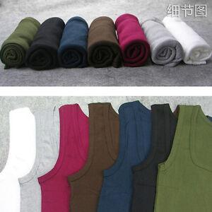 Hombre-Liso-camiseta-De-tirantes-Top-Espalda-Musculo-Sin-mangas-Algodon-Gimnasio