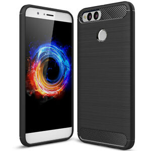 Custodia-cover-Rugged-Armor-Carbon-Design-pr-Huawei-Honor-7X-case-TPU-flessibile