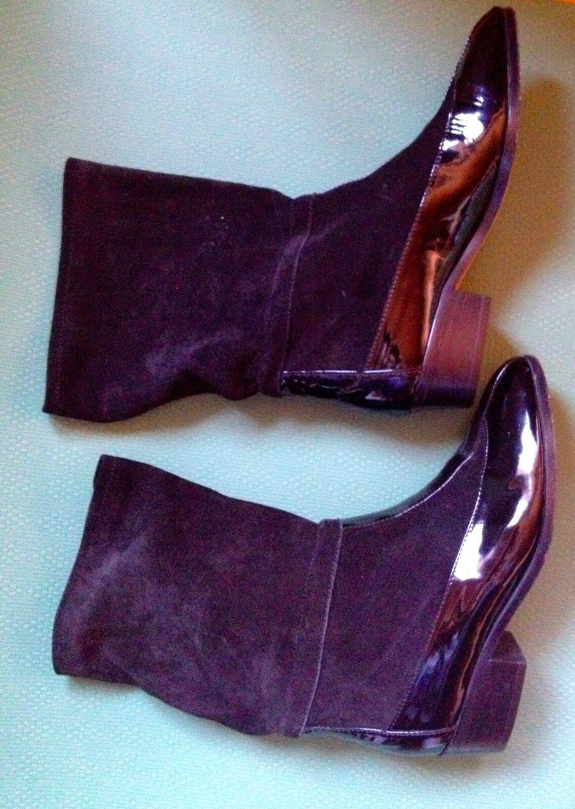 Christian Dior Vintage Bottines souliers vernis et daim