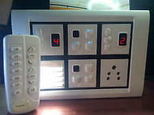 Remote control switch board for 6 light,2 fan and ,one9 led foot light