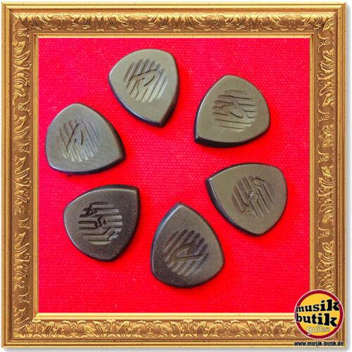 6 Stück schwarz Dunlop Primetone picks extra large 5 mm