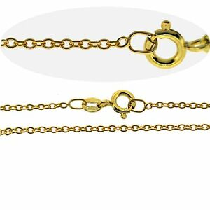 9CT-Gold-Plated-Fine-1-6mm-Trace-Chain-Necklace-14-18-20-22-24-26-28-30-40-034-INCH