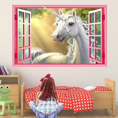 Ben Informato Unicorno Fantasy Muro Adesivo Murale Decalcomania Stampa Arte Bambine Camera Da Letto Decor Ct77- Vendita Calda Di Prodotti