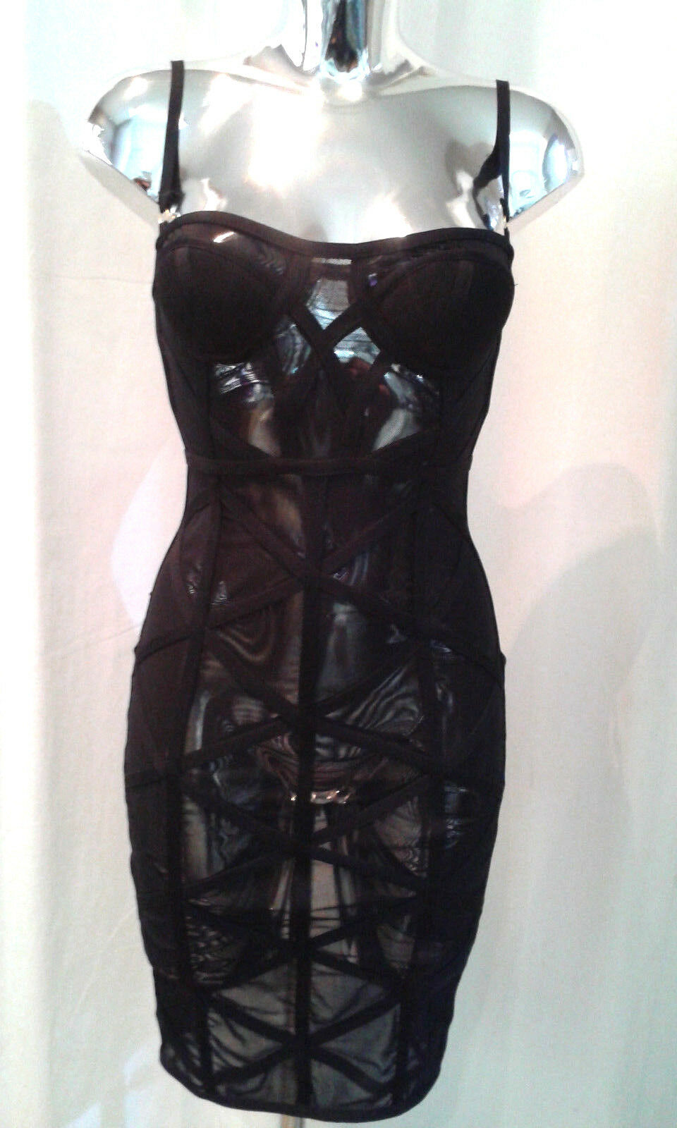 Transparent - Kleid mit Reißverschluss Gr.S  Exclusiv Fashion Pirate