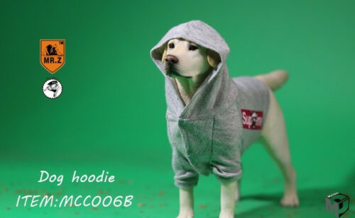 1//6 Scale Mr.Z X MCCToys MCC006B Grey Dog Hoodie Clothes Accessory