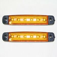 Universal 2 x 12V LED SMD Orange Blinker Seitenmarkierungsleuchten Lkw-anhänger