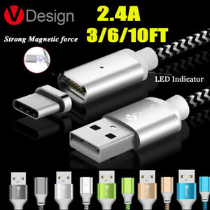 Magnetic-Type-C-Micro-USB-Fast-Charging-Cable-Charger-for-Samsung-iPhone-6-7-Lot
