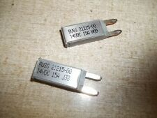 CB212 15 Bussman Circuit Breakers 2-Pack Type II Reset ATM Footprint 14VDC 15A