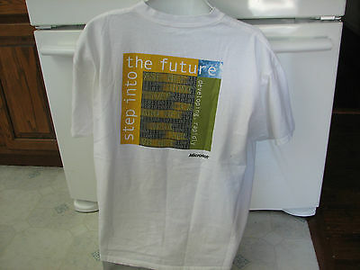 Microsoft dot Net .net framework 2000 or 2002 release vintage computer t shirt