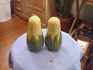 Vintage-Shawnee-Corn-King-Large-5-25-034-Salt-amp-Pepper-Shakers-Good-Condition