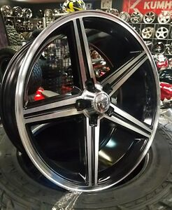 22 Inch Iroc Black Machined Wheels 5x12065 12mm Chevy Gm 5x475