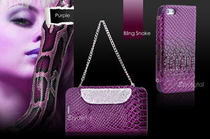 Premium-Purple-Bling-Snake-Stand-Wallet-case-cover-for-Apple-iPhone-5