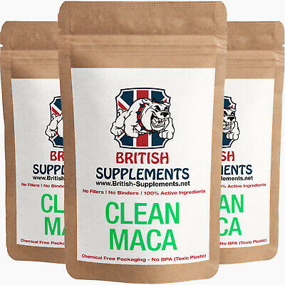 Unter Der Voraussetzung Clean Maca Extract Capsules 4,728mg Energy, Mood Sex, Memory British Supplements
