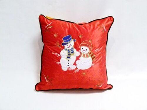 Santa Bonhomme de Neige Velours Noël housses de coussin-Festive Designs Renne Arbre