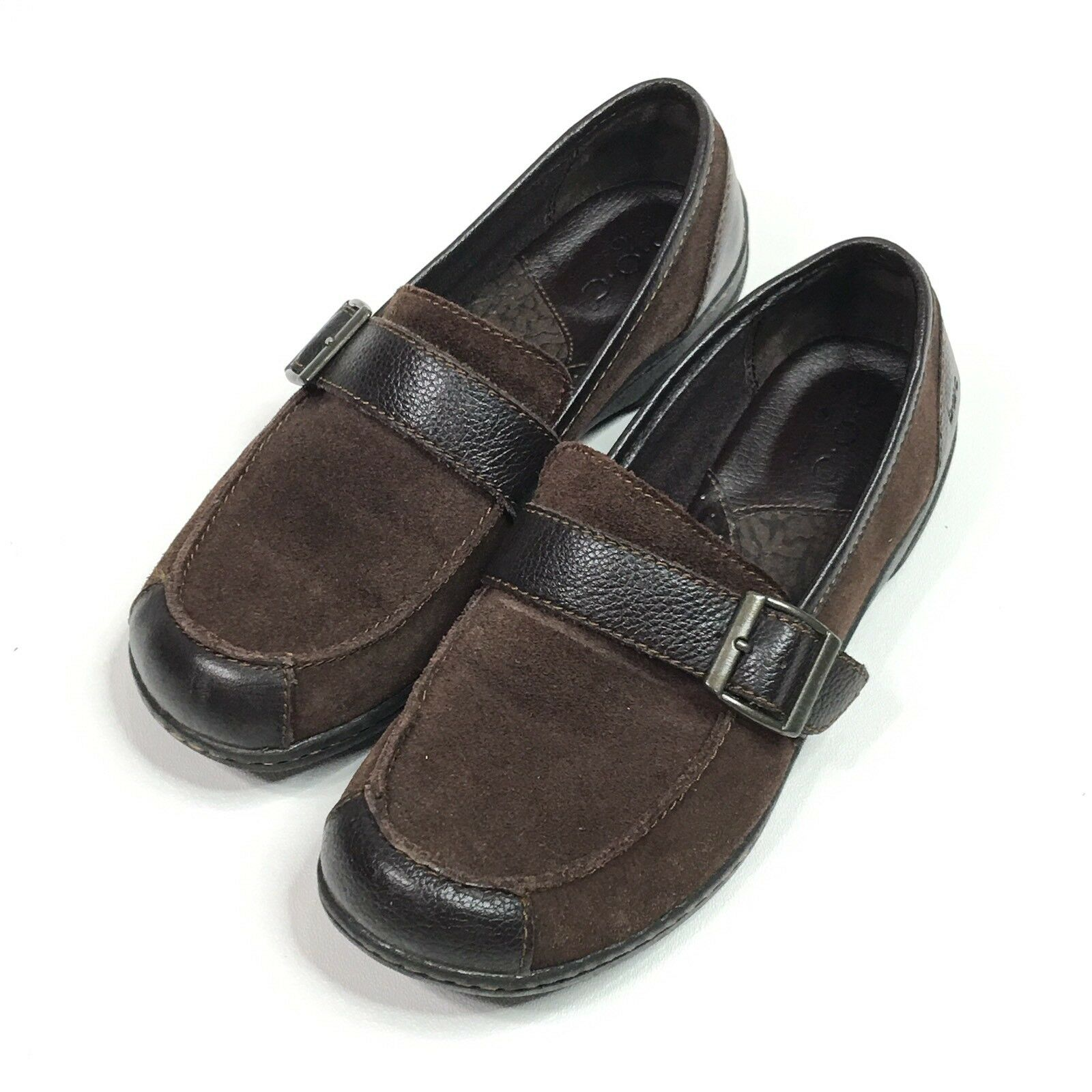 BOC Born Concept BC6645 Womens Brown Suede Loafers Slip On shoes Size 7.5 M