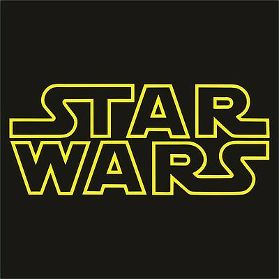 STAR WARS Outline Logo Sticker Decal - Choose Color and Size - The Force Awakens