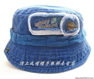 a8195179a Boys Baby Kids Toddlers Floppy Hat Cap Cowboy Pima cotton hat kid ...