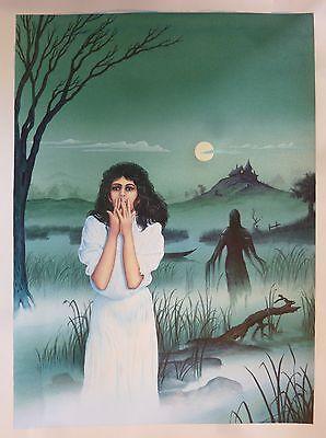 Originalzeichnung Titelbild Mitternachts-Roman Nr. 202  Handzeichnung Bastei