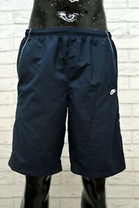 Costume-NIKE-Uomo-Taglia-L-Mare-Piscina-Pantaloncino-Shorts-Rete-Blu-Kostum