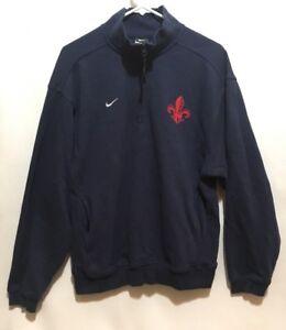 59024680c25cfa Nike Sweatshirt S.H.F. Fleur De Lis Navy Blue Mens Size Small ...