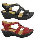 CLARKS UNSTERN WOMENS/LADIES COMFORTABLE LEATHER WEDGES/SANDALS/SHOES
