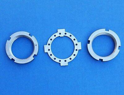 Dana 44 SPINDLE NUT KIT 4WD GM Ford Dodge 4x4 trucks 10 bolt W//5 bolt auto hubs