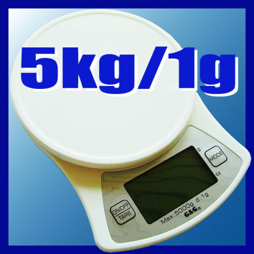G/&G 5KG//1G KÜCHENWAAGE BRIEFWAAGE FEINWAAGE DIGITALWAAGE KD
