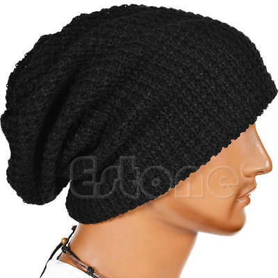 Chic Men Women Warm Winter Knit Ski Beanie Skull Slouchy Oversize Cap Hat Unisex