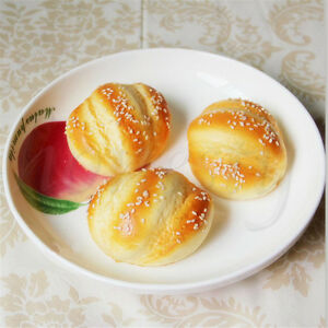 Artificial-Simulation-Fake-Food-Plastic-Kitchen-PU-Hanamaki-Sesame-Bread-Decor
